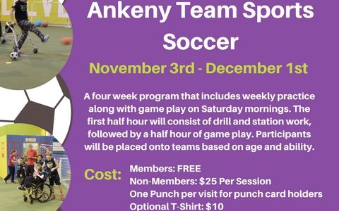 Ankeny – Team Sports Soccer Registrations Open!