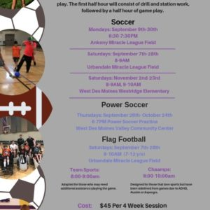 Fall Sports Registrations are OPEN